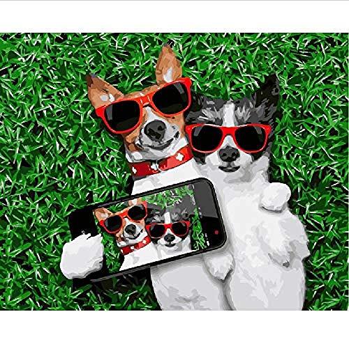 Houten puzzel 1500 stuk voor volwassenen 3D klassieke puzzel Mode honden Maak een foto Dier Diy Educatieve puzzel Home Decor Uniek cadeau-87X58Cm