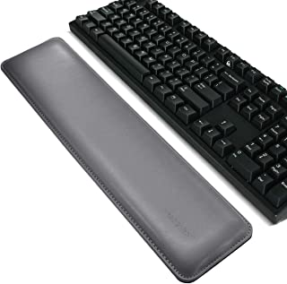 Ergonomic Leather Mouse Pad Wrist Support and Keyboard Wrist Rest Pad Set with Non-Slip Backing Memory Form-Filled, Easy-T...