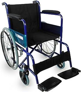 Mobiclinic, modelo Alcázar, Silla de ruedas ortopédica, plegable, para minusválidos, manual, freno en manetas, reposabrazo...