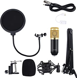Broadcasting Microphone, Anti-Vibration Broadcasting Microphone Condenser Microphone Studio Recording Mic, with Frame Kit ...