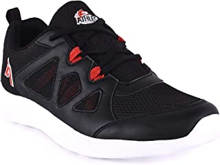 Athleo by Action Men Black Red Sports Running Shoes