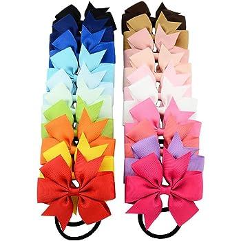 OULII Accessori per capelli legami corda anello Hairbands fasce fasce per Baby ragazze bambini bambini bambini donne e adolescenti confezione da 20 (20 colori)