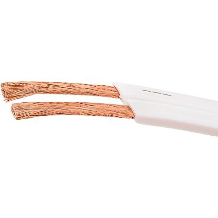 Dcsk 10m 2x1 5mm Flaches Lautsprecherkabel Weiß I Elektronik