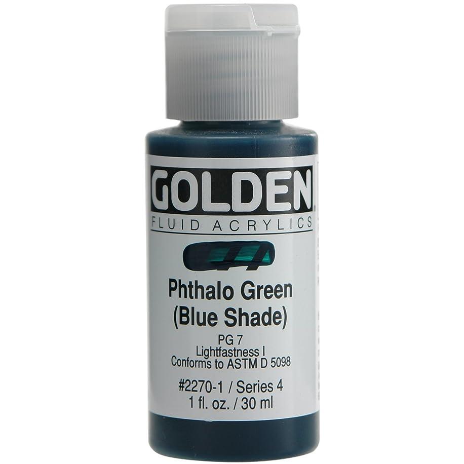 Golden Fluid Acrylic Paint 1 Ounce-Phthalo Green/Blue Shade