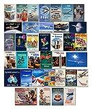 Vintage BOAC British Overseas Airways Corporation, British Airways Etiquetas para equipaje, póster de viaje retro, paquete de 36 pegatinas de PVC