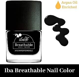 Iba Halal Care Breathable Nail Color, B21 Pristine Black, 9ml