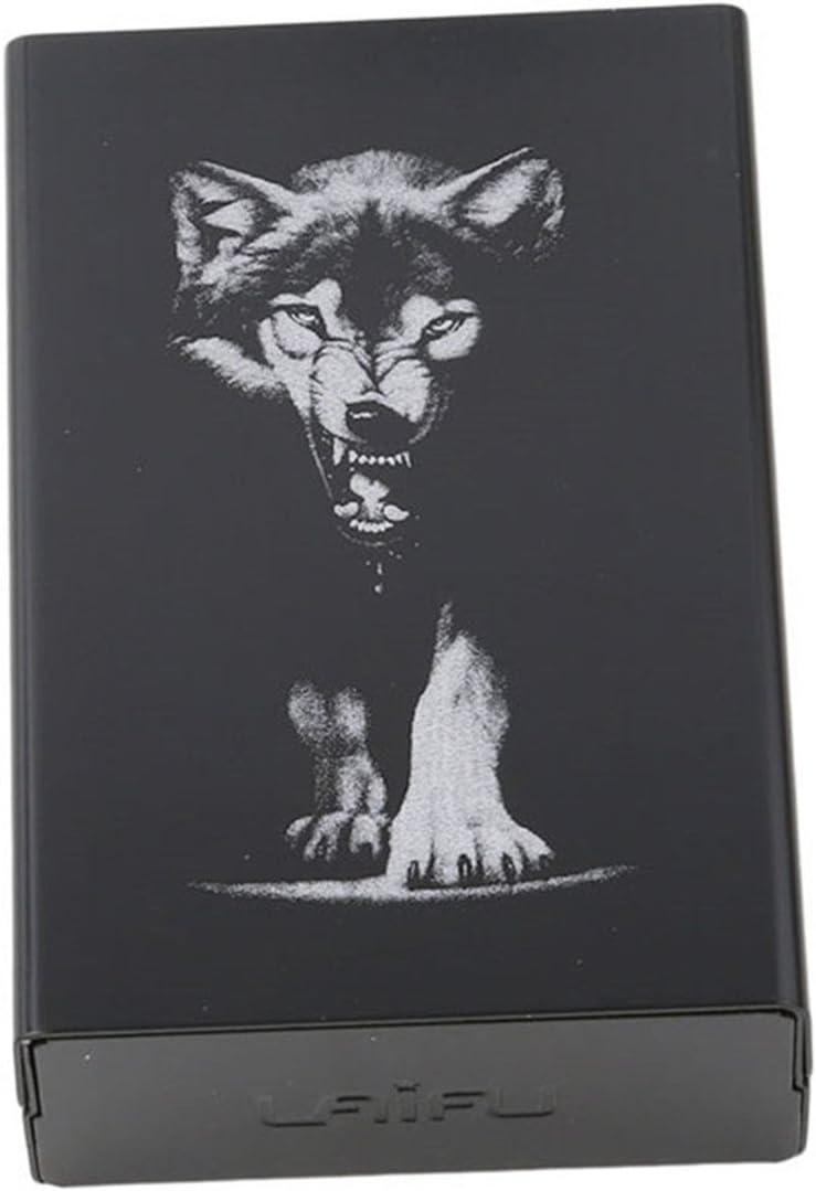 CH 20 Sticks Black Wolf Metal Cigarette Finally popular brand Case Automatic Ranking TOP6