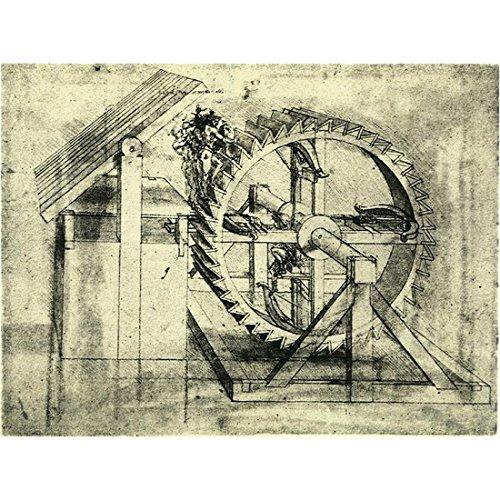 Meishe Art Print Poster Wall Art Artwork Leinwand Bilder Military Maschine für Schießen Pfeile eine Armbrust Skizze von Leonardo da Vinci Gemälde Reproduktion (Leinwanddruck ohne Rahmen)