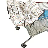 vocheer Shopping Cart Cover for Baby, 2-in-1 High Chair Cover Baby Grocery Cart Cover Fits Restaurant Highchair Cell Phone Storage Shower Gift Idea Machine Washable