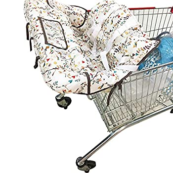 vocheer Shopping Cart Cover for Baby 2-in-1 High Chair Cover Baby Grocery Cart Cover Fits Restaurant Highchair Cell Phone Storage Shower Gift Idea Machine Washable