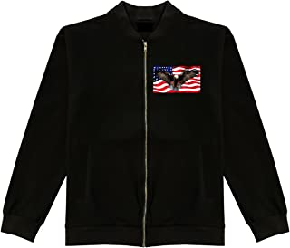 Bald Eagle American Flag Bomber Jacket