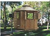kien Bambus-Pavillon Gartenmöbel Partyzelt Gazebo Pavillion Gartenzelt
