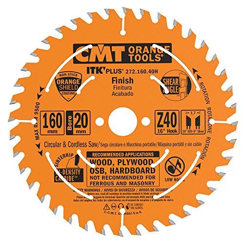 CMT 272.160.40H Sierra Circular itk Plus HW 160x1.7x20(+16) z=40 ATB+Shear