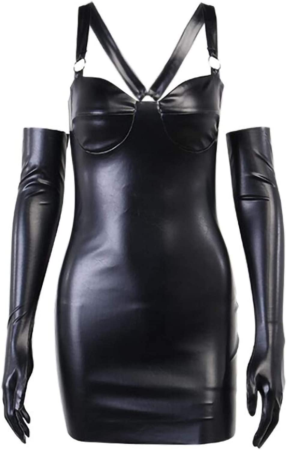 JUEBO Dress for Women Ranking TOP11 Gothic Leather St Mini Girl Tube Top Selling and selling