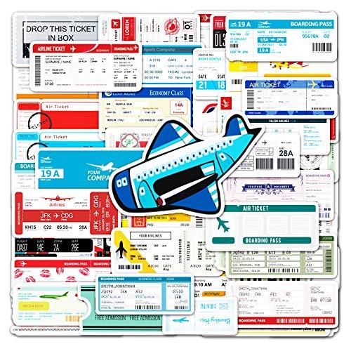 Tarjeta de embarque Inswind Equipaje Funda para teléfono portátil Casco Monopatín Manual Adhesivo 52 Piezas