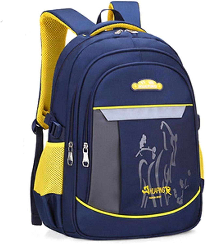 Qiyuezhuangshi School Bag, Student Bag, wearResistant Waterproof Backpack, Suitable for Grade 19 Students, 46  32  20cm, Multicolor Optional Exquisite (color   Royal blueee, Size   46  32  20cm)