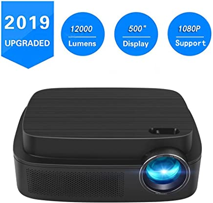 """Portable Projector -12000 lumens WiFi 1080p Video Projector LCD LED Full HD Theater Proyector 500"""" Big Display, Ideal for Home Entertainment"""