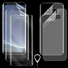 [6in1] Ultra Clear Wear-Resisting Anti-Shatter Front+Back Screen Protector Kit for Samsung Galaxy S8+ SM-G955U C Spire