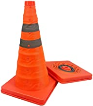 AJZGF Traffic Cone 70 cm Collapsible Pull-Out pop-up Warning Cone Orange Traffic Cones Parking Safety Cone Highway Traffic Cone (Size : 1pcs)