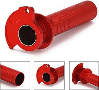 JFG RACING Red CNC Aluminum Billet Anodised Lever Control Twister Throttle Handle Tube For For Honda CR125R CR250R 89-07 CR500R 89-01