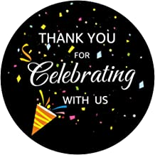 OPG Thank You for Celebrating with Us Label Stickers,Adhesive Seal Sticker Decorative Stickers for Party Supplies,100-Pack...