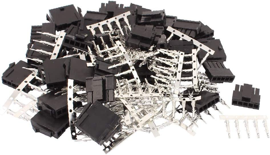 X-DREE 20 Set Black Plastic 5 Pin Pitch + 3.0mm Max 40% OFF Male Super sale 40 Female