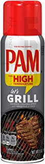 PAM No-Stick Cooking Oil Spray especially for GRILLING with High Temperature Formula, 5 oz - Made with 100% Natural Vegetable Oil ! Great fot less or Fat-Free Cooking!