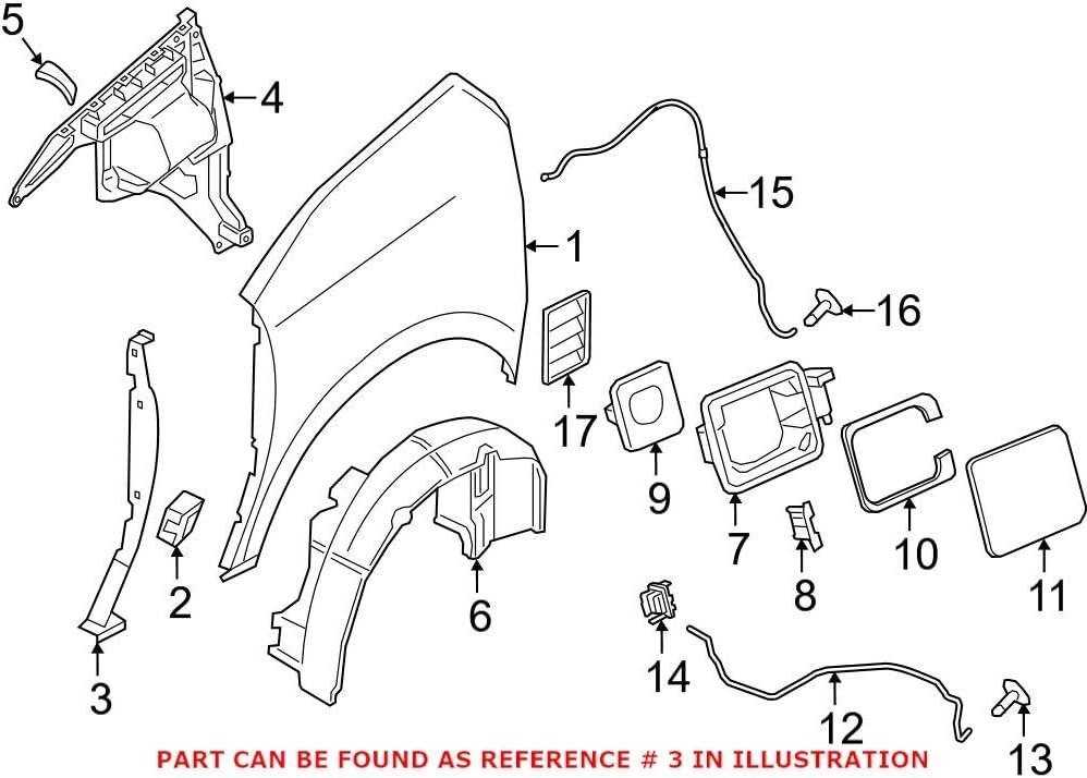 Genuine OEM Front Driver free Left Quarter I01 Bracket Recommended Panel BMW For