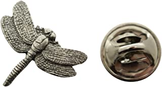 Dragonfly Mini Pin ~ Antiqued Pewter ~ Miniature Lapel Pin