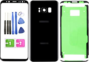 Ubrokeifixit Compatible Front Outer Lens Glass Screen Rear Panel Back Cover Replacement for Samsung Galaxy S8 5.8