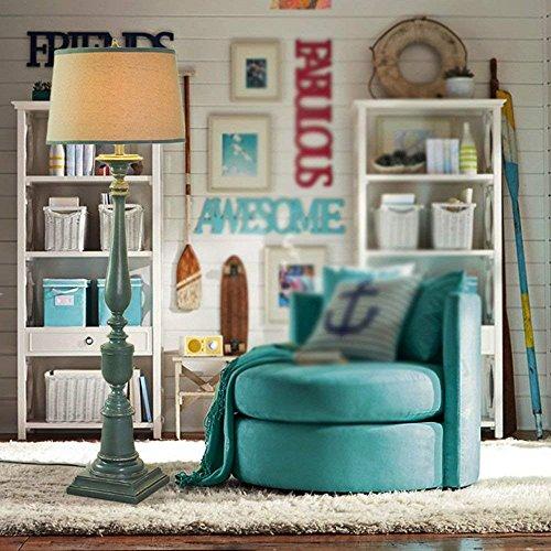 Huishouden meerdere scènes staande lamp, Scandinavische Amerikaanse stijl groen hars in Zuidoost-Azië woonkamer kantoor slaapkamer gloeilamp inbegrepen decoratie staande lamp, B-D