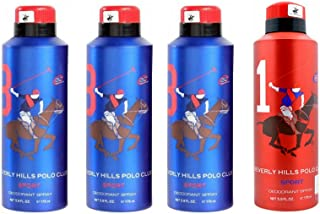 Beverly Hills Polo Club Deodorant for Men - Pack of 4