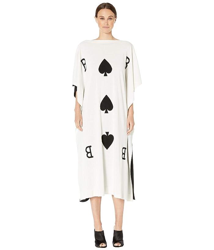 Boutique Moschino Card Dress (Fantasy Print Black) Women