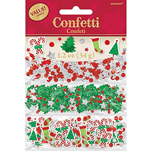 Amscan 360144 Multicolored Foil & Confetti Christmas Value Pack 1 pack Party Decoration