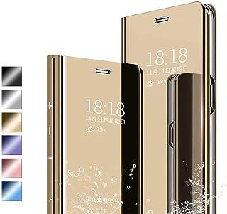 JIERICH voor Samsung Galaxy A32 5G hoesje,Plating Smart Clear View Case Flip mobiele telefoonhoes met standaardfunctie Ant...