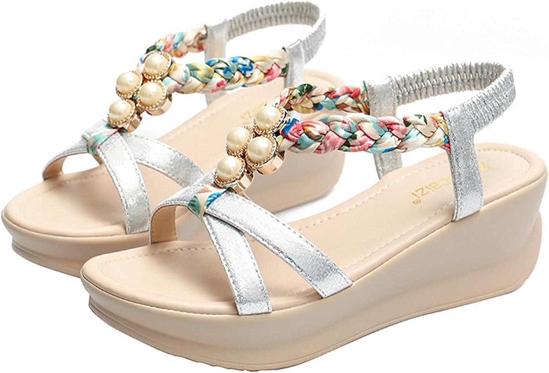 Women's Wedge At the price Platform Sandals Bohemian Open Toe Elastic Ladies service