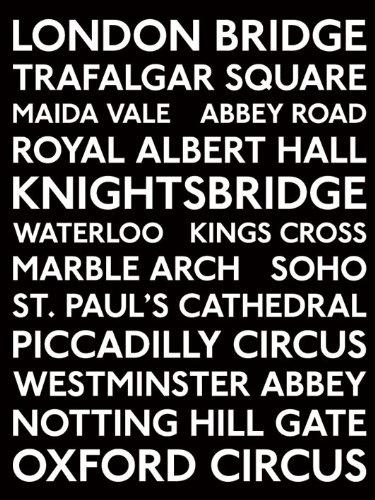 Pyramid International - Stampa Decorativa delle fermate degli Autobus di Londra, 60 x 80 cm