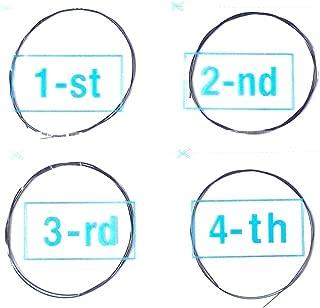 Generic 4 sets Ukulele Strings B F# D A Black Nylon
