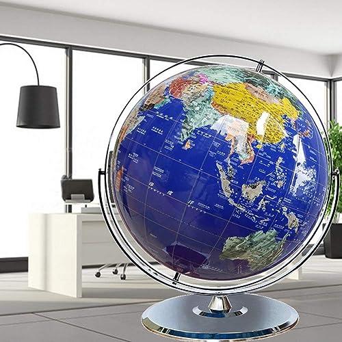 Globus - Globus Interaktiver Weltkugel für Erwachsene, Dekoration Geschenk, Edelstahlhalterung,12 Zoll