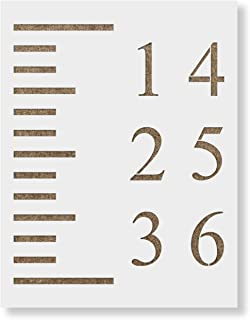 Growth Chart Stencil Template - Reusable Stencil for Growth Chart Rulers - Better Than Decals!