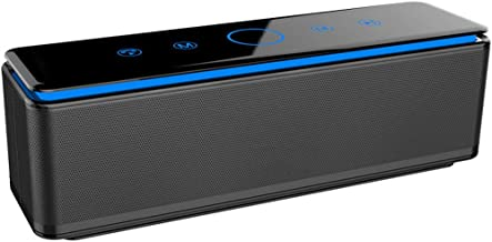 Touch Bluetooth Speaker Subwoofer Portable Outdoor Mobile Phone Speaker (Color : Black) photo