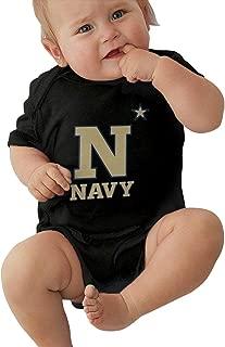 US Naval Academy Baby Boys Girls Jersey Bodysuit Jumpsuit Rompers One-Piece Onesies Cotton Short Sleeve 0-24M