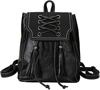GYYlucky Bag Female 2019 New Wild Korean Girl Backpack Simple Student Travel Bag (Color : Black)
