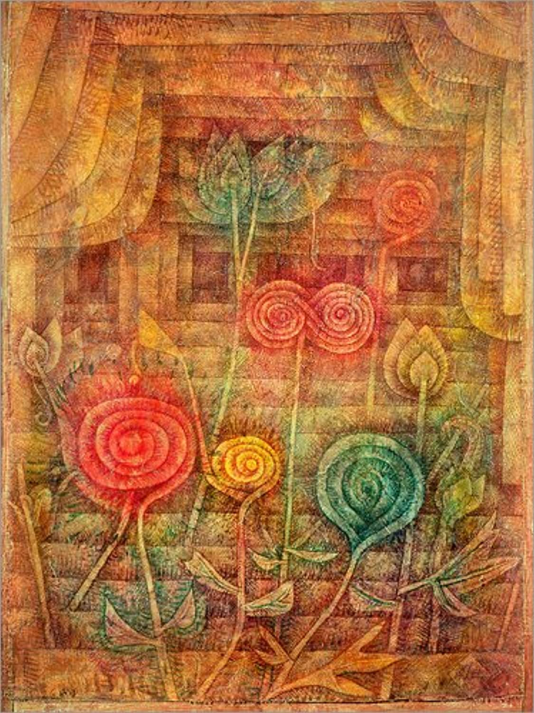 Posterlounge Leinwandbild 60 x 80 80 80 cm  Spiralförmige Blaumen von Paul Klee Bridgeman Images - fertiges Wandbild, Bild auf Keilrahmen, Fertigbild auf echter Leinwand, Leinwanddruck B0779RQ4R6 4b04de