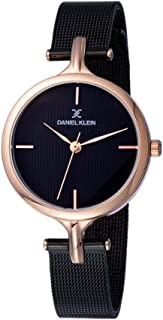 Daniel Klein Womens Quartz Watch, Analog Display and Stainless Steel Strap DK11914-3