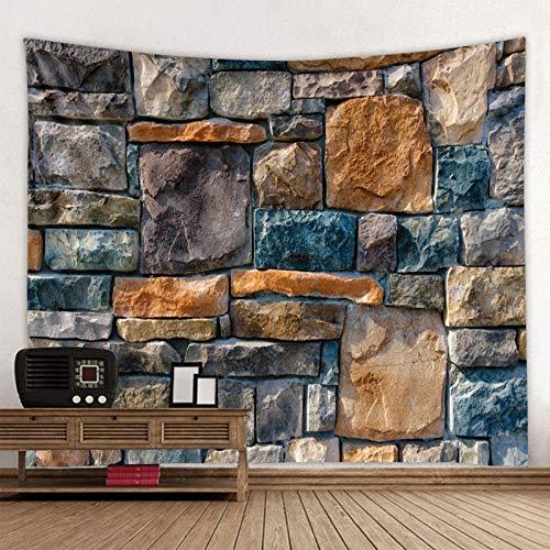 KHKJ Tapiz Impreso de Pared de Piedra de Golpe Tapiz Colgante de Gran tamaño tapices Hippie Boho Baratos Tela de Mandala A3 150x130cm