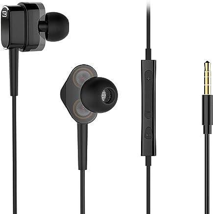 Wired Earphones, Dual Dynamic Drivers in-Ear Headphones...