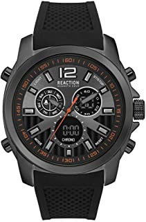 Kenneth Cole Reaction Men's Analog Quartz Metal Case Soft Silicone Starp Casual Watch (RK50699002/01)