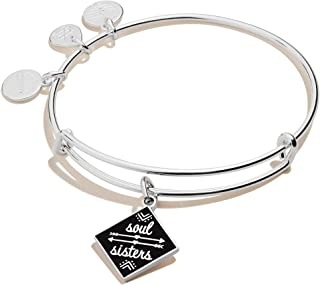 Alex and Ani Soul Sisters Expandable Bangle Bracelet for Women, Best Friends Charm, 2 to 3.5 in