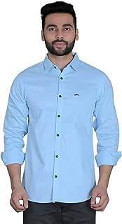 BAARBIJ Mens Casual Plain Cotton Full Sleeve Shirt